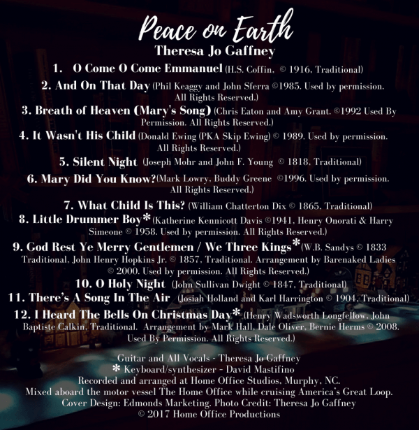 Peace On Earth song list